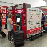 Fiumicino airport automated train ticket machines