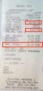 How much it costs from Barcelona Airport to City with Taxi