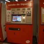 Barcelona airport automated metro train ticket machines