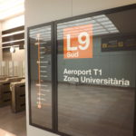 Barcelona airport metro line display