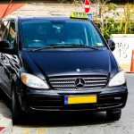 Taxi van at Larnaca airport