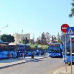 Bus stop at Paphos airport