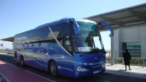 Limassol Airport Express Bus at Larnaca airport