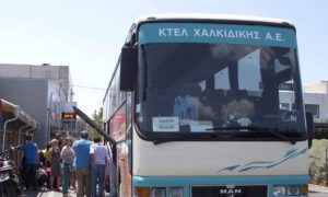 Bus from Thessaloniki to Halkidiki - Halkidiki  suburban bus (Ktel)