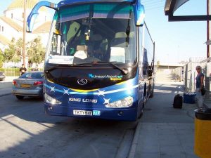 Limassol Airport Express Bus at Paphos airport
