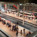 Train Station at Madrid Airport
