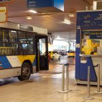 Athens airport public bus ticket counter