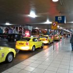 Taxi stand at Athens airport, Greece