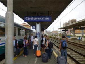 The Civitavecchia train station