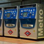 Madrid airport automated metro train ticket machines