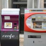 Madrid airport renfe train automated ticket machines