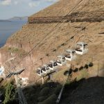 Cable Car from Old port of Santorini to Fira