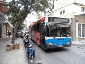 Heraklion airport bus to City