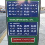 Bus timetable from Chania airport to city of Chania
