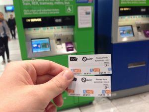 Train tickets at Charles de Gaulle airport