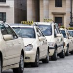 White taxis in Paris