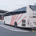 CDG airport Le Bus waiting on the platform