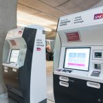 CDG airport automated train ticket machines