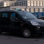 CDG airport black taxi