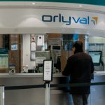 Orlyval airport tram ticket counter