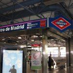 madrid airport metro station