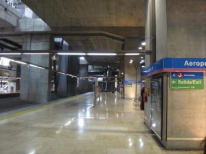 Metro Station at Madrid Airport