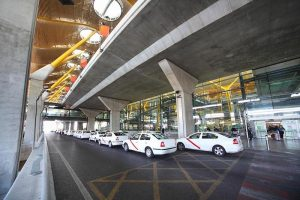 Taxi rank at Madrid airport