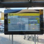 Amsterdam airport taxi information display electronic screen