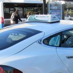 Amsterdam airport white taxi