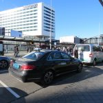 ams airport taxi exit doors welcome pickups