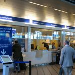 ams airport train ticket counter