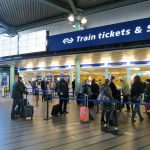 Amsterdam airport train ticket counters