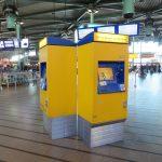 ams airport train ticket machine