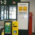 milan airport train validate ticket machine