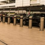 Gatwick airport black taxis lined up