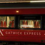 Gatwick Express train waiting on the platform