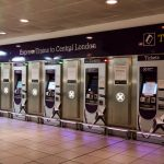 Heathrow Express automated train ticket machines