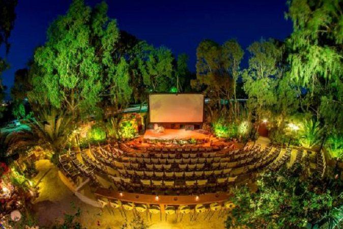 Kamari Santorini open air cinema