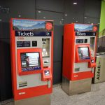 Vienna airport OBB automated train ticket machines