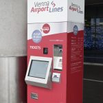 Vienna Airport Lines bus automated ticket machine