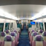 interior of an airport express wagon