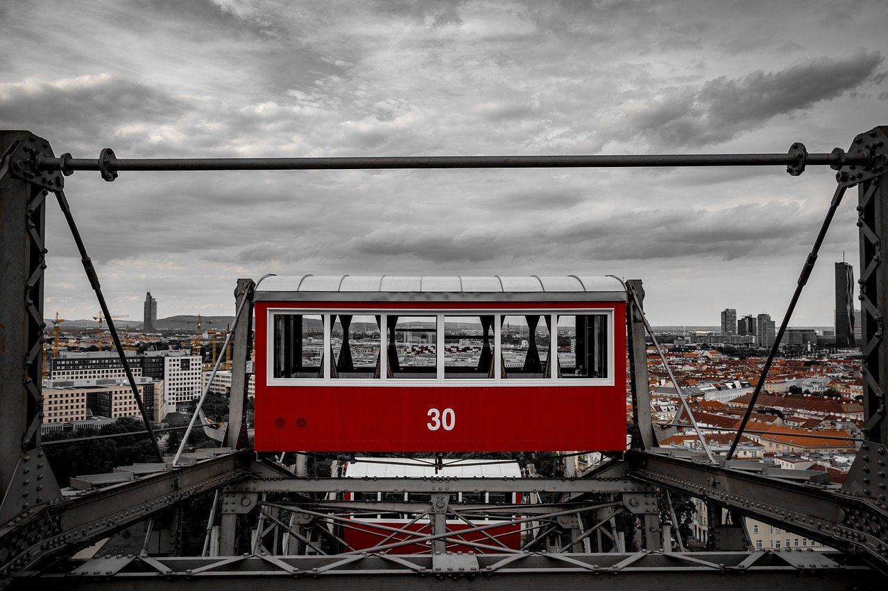 ferris wheel view vienna
