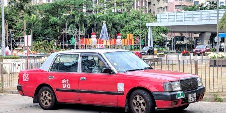 Urban-red Hong Kong airport taxi