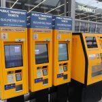 Prague airport Public Transport automated ticket machines
