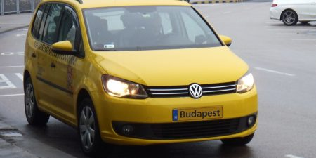 Budapest airport yellow taxi