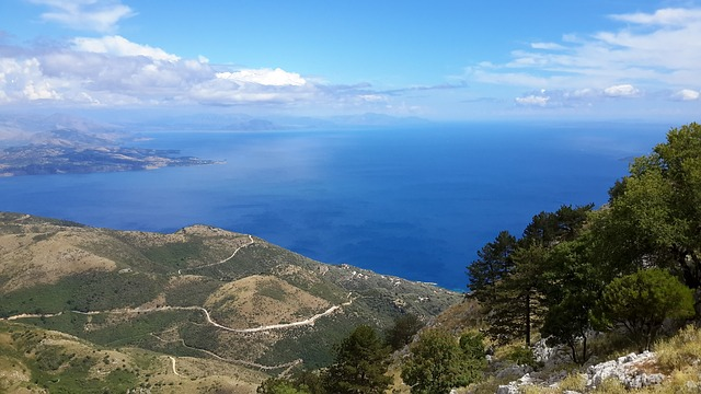 corfu trail panoramic