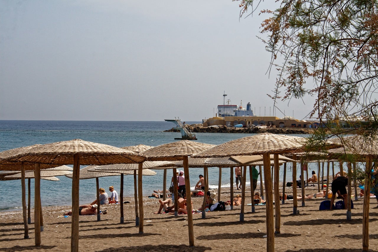 rhodes faliraki beach