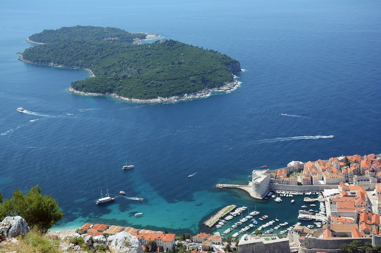 island near dubrovnik