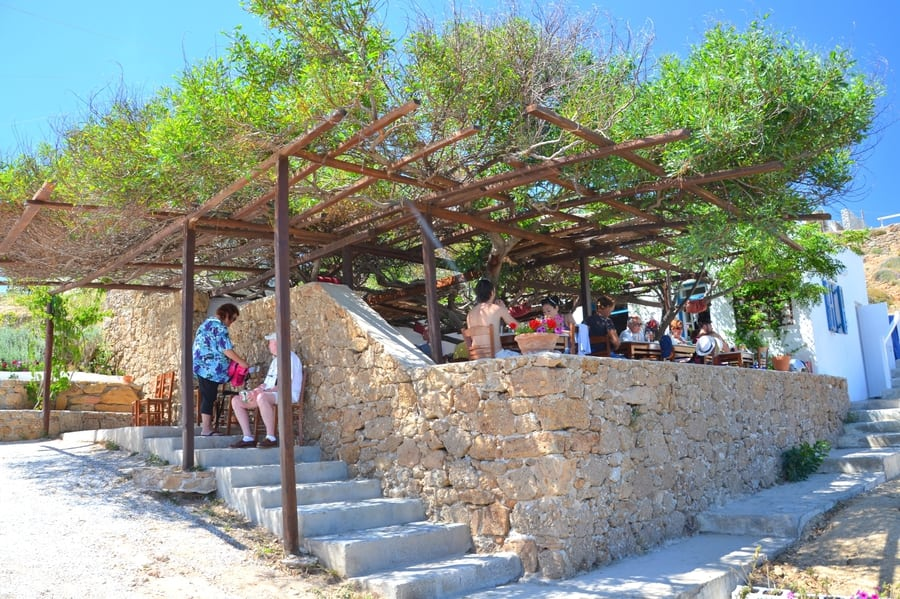 mykonos places to eat near Agios Sostis Beach