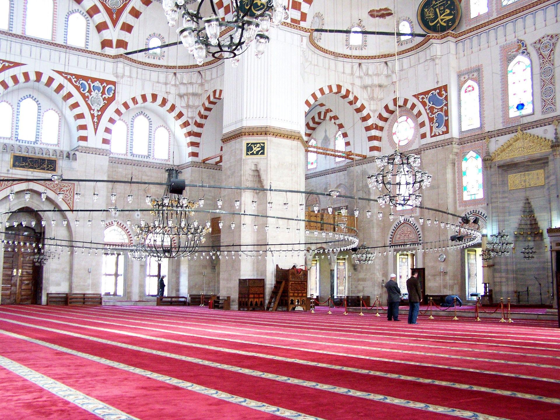 inside the Şehzade Mosque